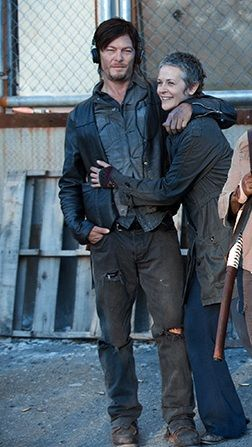 nice headphones, Daryl. Carol, I want that coat..shirt..thing.