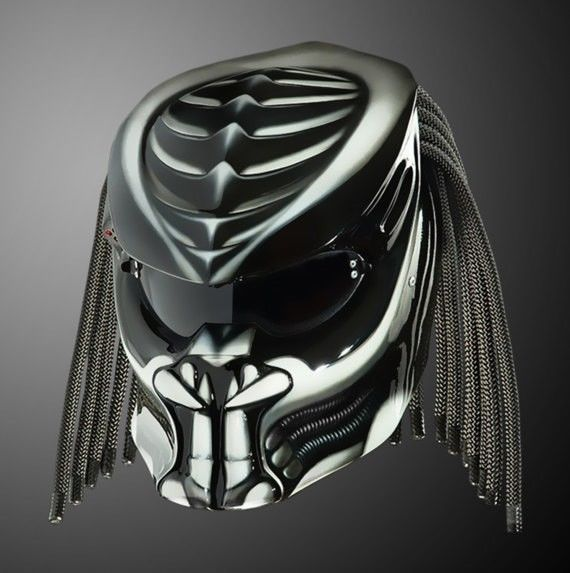 THE AMAZING ALIEN PREDATOR HELMET FOR BIKERS STYLE DOT APPROVED #CELLOS