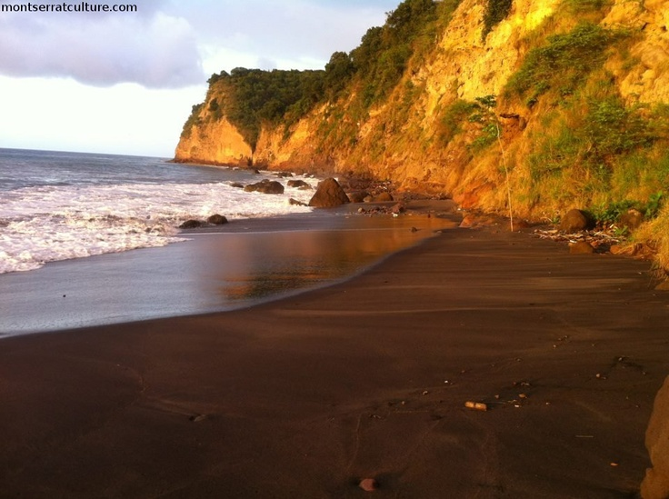 9 best beautiful montserrat images on pinterest british for Black sand beach caribbean