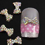 10pcs+Crystal+AB+Rhinestones+Beads+Bow+Tie+3D+Alloy+Nail+Art+Decoration+–+GBP+£+7.73