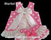Hot Pink Polka Dots Ruffled Pinafore Set Sassy Pants Ruffle Diaper Cover Bloomer によく似た商品を Etsy で探す