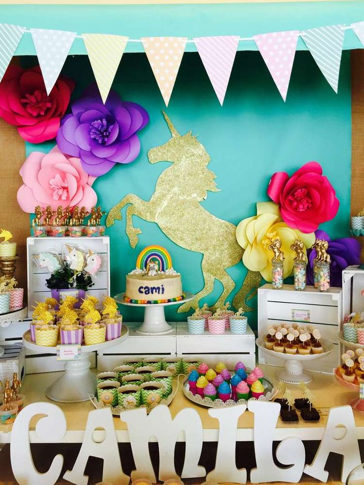 Stunning Rainbows And Unicorns Birthday Party See More