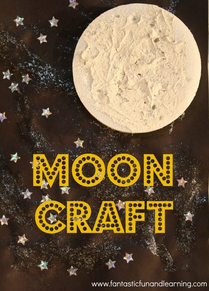 Textured moon craft and night sky painting // via Fantastic Fun and Learning