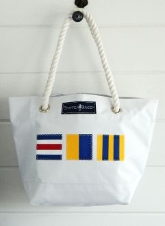 Nautical Flag Initial Tote (Personalized)