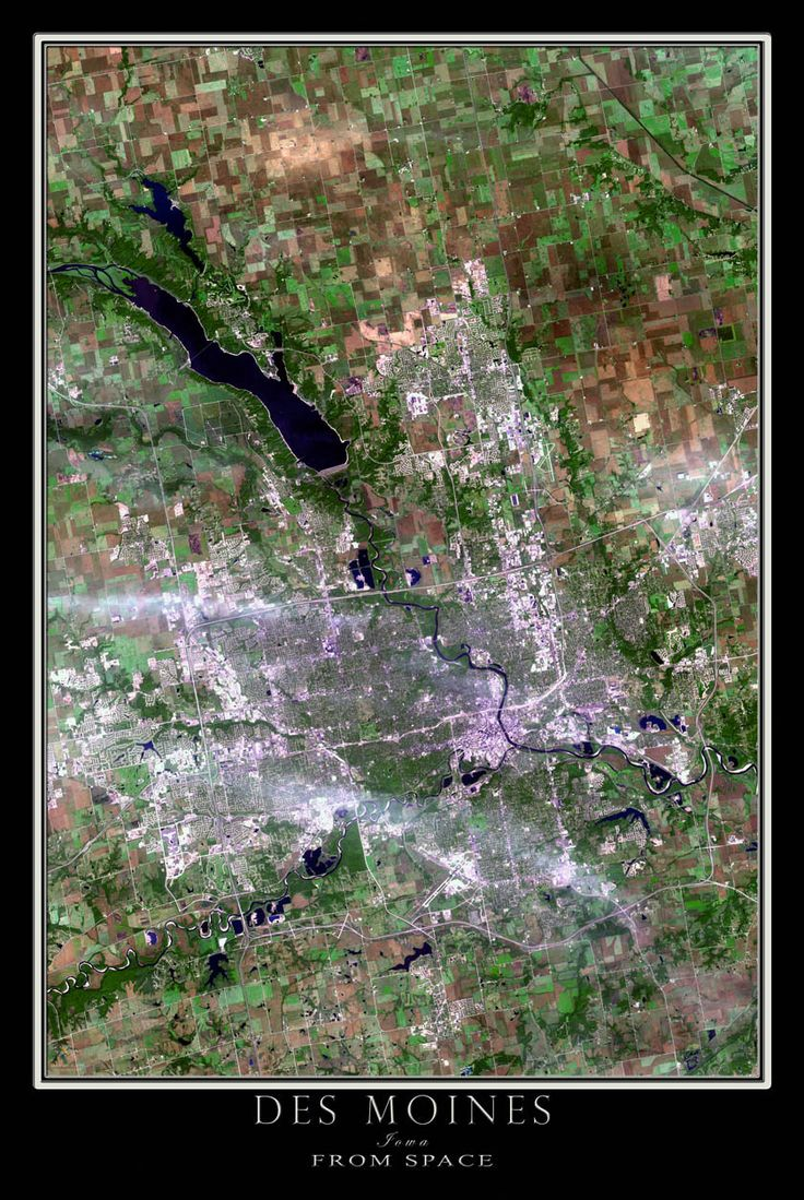 Map Of Paisley%0A Des Moines Iowa Satellite Poster Map
