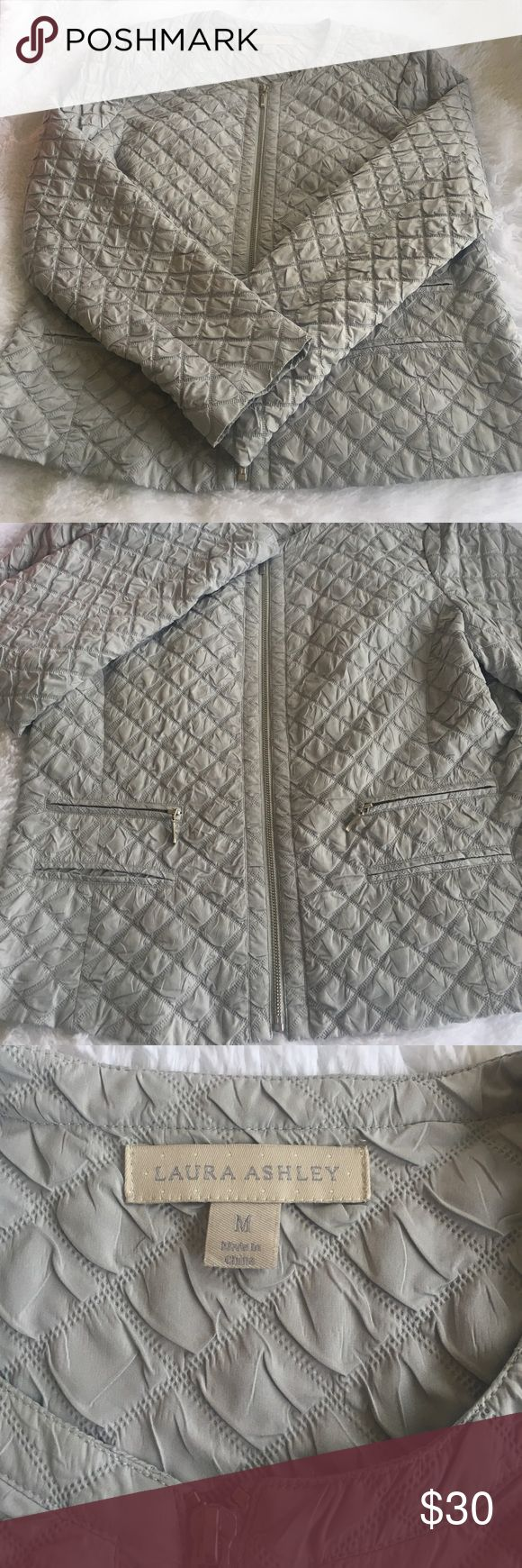 Lightweight quilted jacket Classy summer weight quilted jacket. Lined inside. Great condition Laura Ashley Jackets & Coats