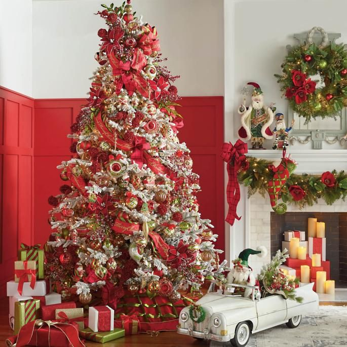Christmas Tidings Greenery Collection Frontgate Christmas Trees Amp Mantles Gold