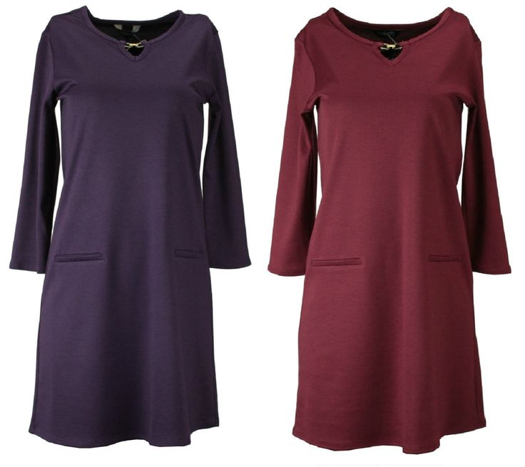 Blue Chameleon Ladies Purple Or Red Wine Alexon A Line Smart Casual Dress