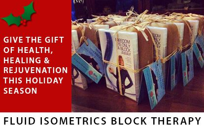 Give the gift of health, healing & rejuvenation this holiday season. Fluid Isometrics Block Therapy.  http://www.fluidisometrics.com/products/