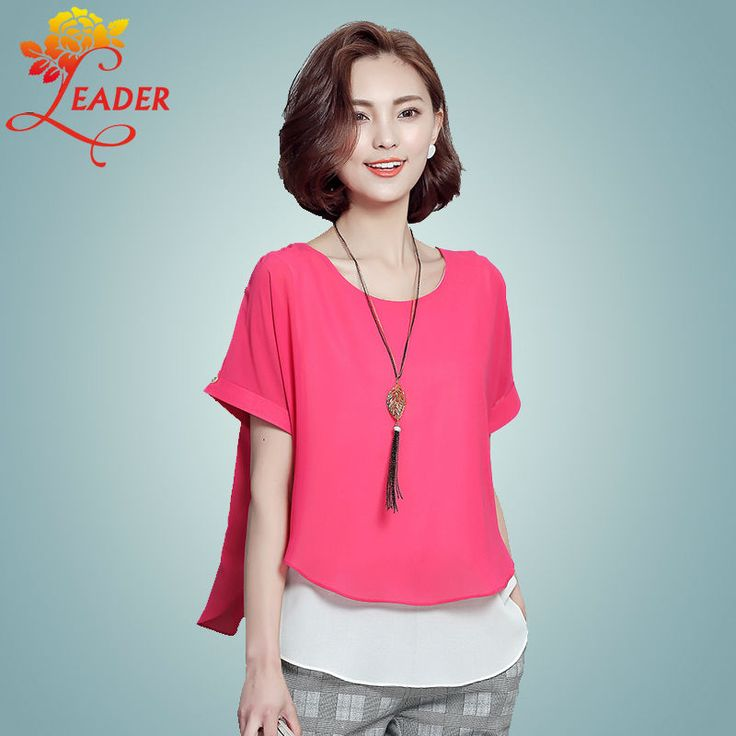 2016 New Summer 2 Pieces Women Blouses Fashion Loose Plus Size Short Sleeve Shirt and Tops 4XL Chiffon Blouse Vetement Femme -*- AliExpress Affiliate's buyable pin. Click the image to view the details on www.aliexpress.com