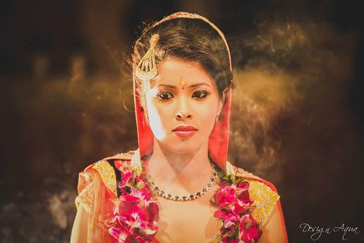Indian Bridal Photo Shoot by Design Aqua