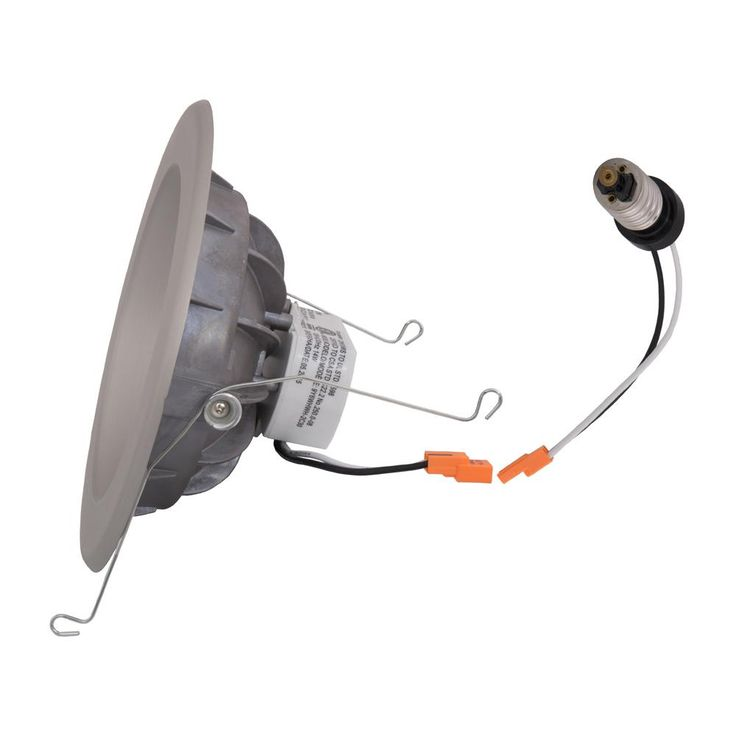 EnviroLite 6 in. Brushed Nickel Trim Integrated LED Recessed Ceiling Light, 3000K, 95 CRI, 753 Lumen