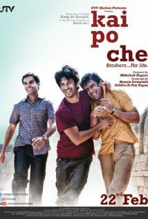 Kai po che! directed by Abhishek Kapoor....  One of the best films ever.. one that stays with you long after the last frame.. Amazing performances by Amit Sadh, Rajkumar Yadav, Sushant Singh Rajput and Amrita Puri..  Beautiful Music by Amit Trivedi