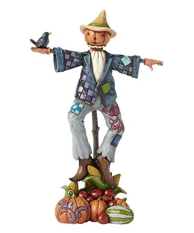 Another great find on #zulily! Heartwood Creek Scarecrow With Pumpkin Figurine…