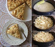Bu bizim Alman pastasının elmalı versiyonu. Almanya'da Omas Kuchen diye adlandırılan büyükannelerin tariflerinden. Her pastanede bulunur. Yapımı kolay, hafif ve lezzetlidir. Ne kadar bol elma kullanırsanız, o kadar yumuşak dokulu ve tadı güzel olur. Kahv...