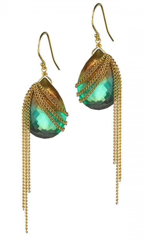 Amali   Max's earrings with bead and chains