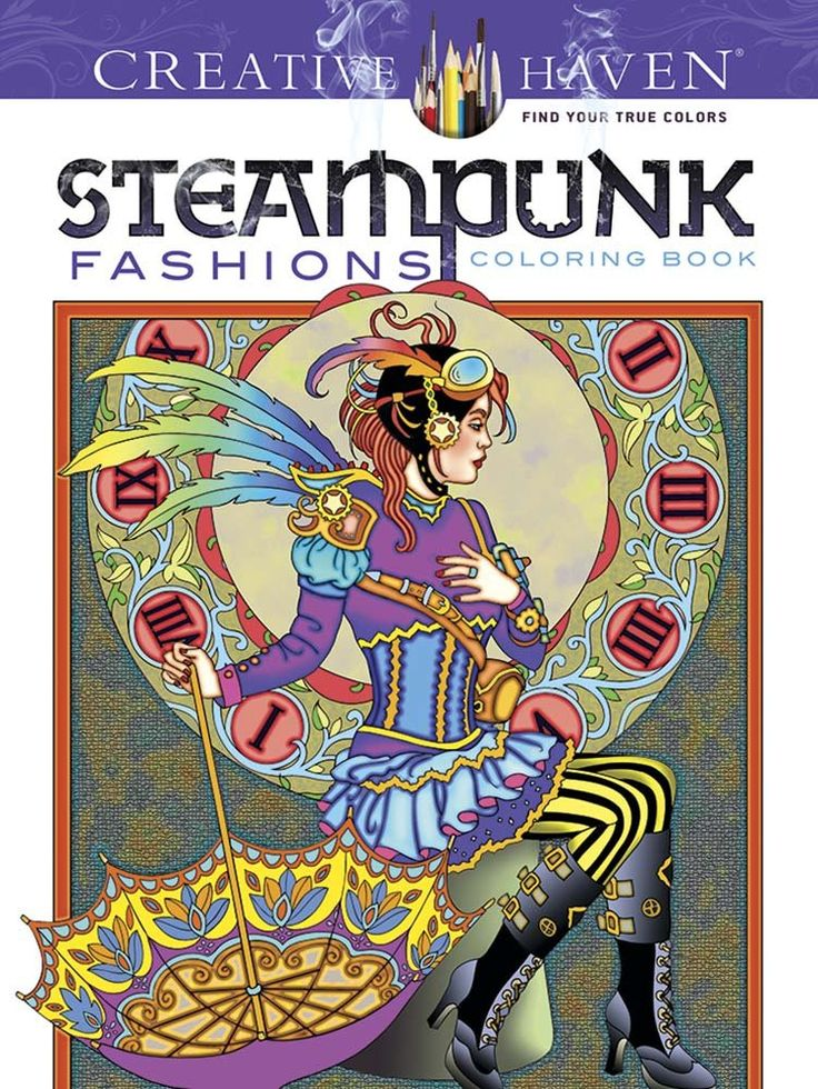 Fishpond New Zealand Creative Haven Steampunk Fashions Coloring Book By Marty Noble Buy Books Online
