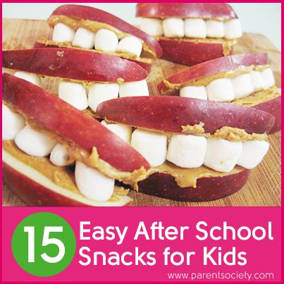 15 Easy After School Snacks for Kids