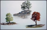 How to Paint Trees in Watercolor.