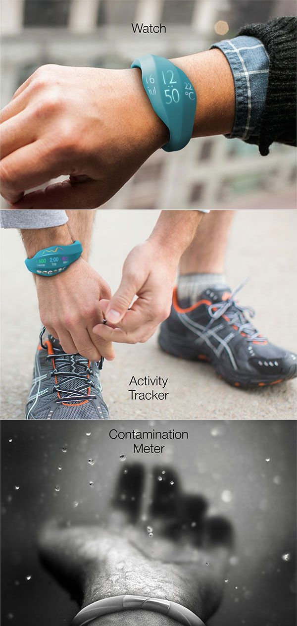"""Gaia_02 """"watches""""over the environment. In addition to normal smartwatch measurements, this Gaia also measures polution in water and air. Also an interesting design #smartwatch, different then original wristwatches."""