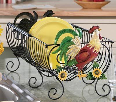 483 best rooster chicken decor images on pinterest for Chicken kitchen decorating ideas