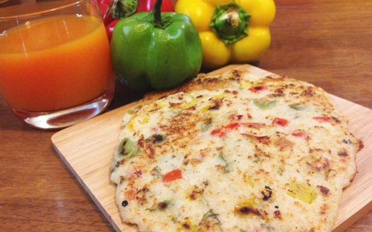 Oats Capsicum Uttapam - Healthy Breakfast