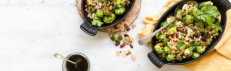Sweet and Sour Brussel Sprouts with Peanuts