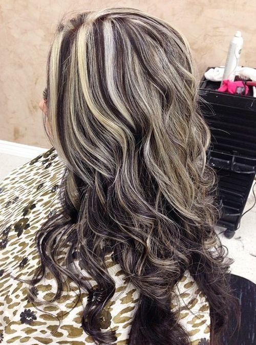 long+brown+hairstyle+with+ash+blonde+highlights