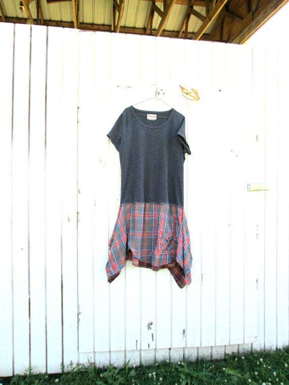 xlarge  plus / upcycled tunic dress / funky tunic dress by CreoleSha, $75.00
