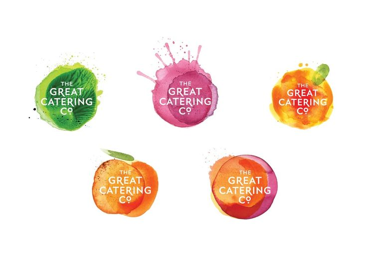 Best Awards - Strategy Design and Advertising. / The Great Catering Company. I like the idea of having a logo with different design elements in each application