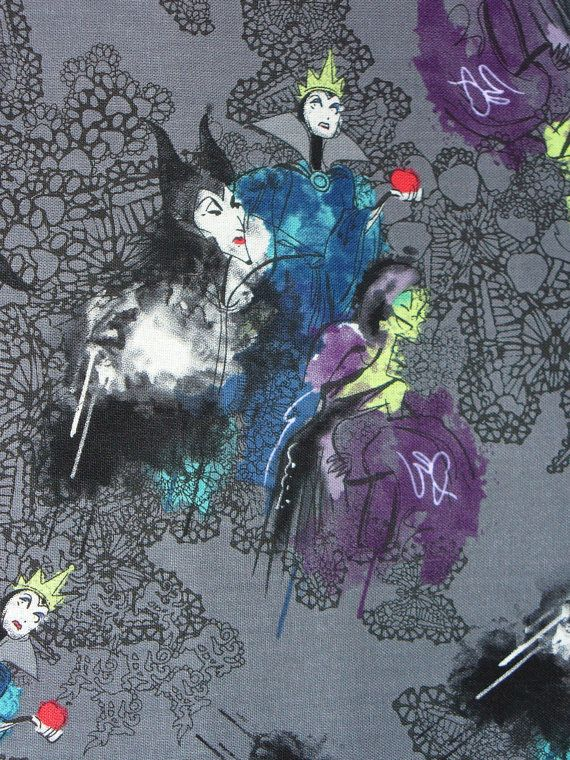 Disney Villains fabric- https://www.etsy.com/listing/163226549/disney-villains-female-villains-from