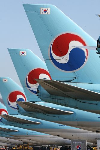 Korean Airlines.....not long and we will be traveling them again.