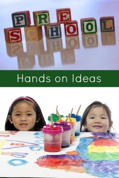 15 hands on ideas for preschool learning.