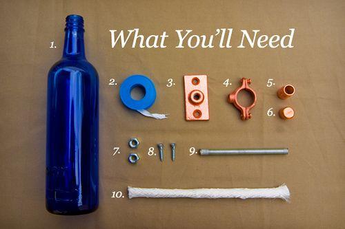 Lamparas de alcohol-botellas recicladas 1