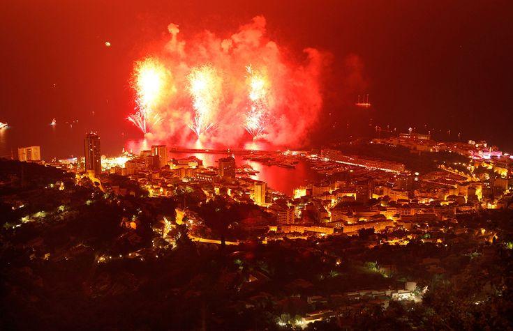 Fireworks to celebrate the wedding of Prince Albert and Princess Charlene