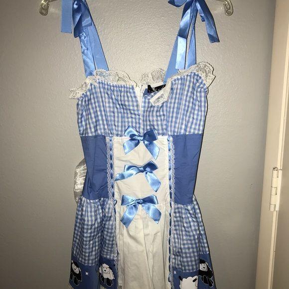 "LIP SERVICE Costume Vault ""Little Bo Peep"" short dress #28-007"