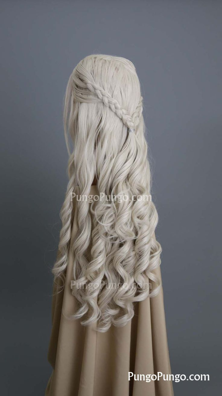 Daenerys Wig | Long Curly Blonde Wig Braids | Game of Thrones Costume Khaleesi Cosplay PungoPungo Daenerys Targaryen | Queen Series by PungoPungo on Etsy