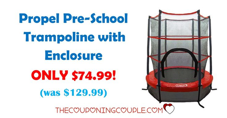 WOW! Check out the Propel Pre-School Trampoline with Enclosure for ONLY $74.99 (was $129.99) or less! Great time to use those SYW points!  Click the link below to get all of the details ► http://www.thecouponingcouple.com/propel-pre-school-trampoline-with-enclosure/ #Coupons #Couponing #CouponCommunity  Visit us at http://www.thecouponingcouple.com for more great posts!