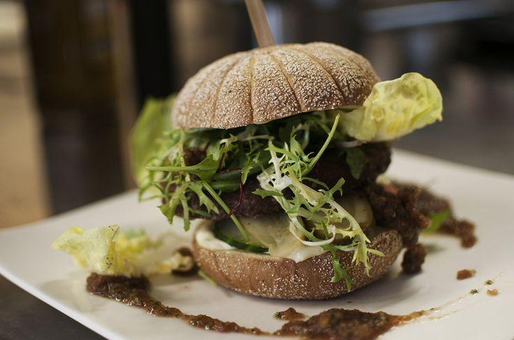Wat kan een simpele hamburger toch lekker zijn!