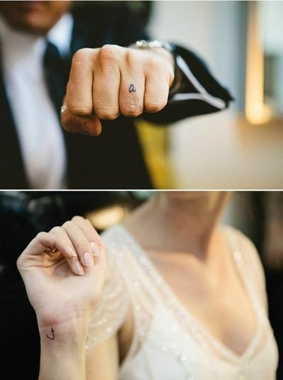 74 Of The Tiniest, Most Tasteful Tattoos Ever Sweet couple tattoo