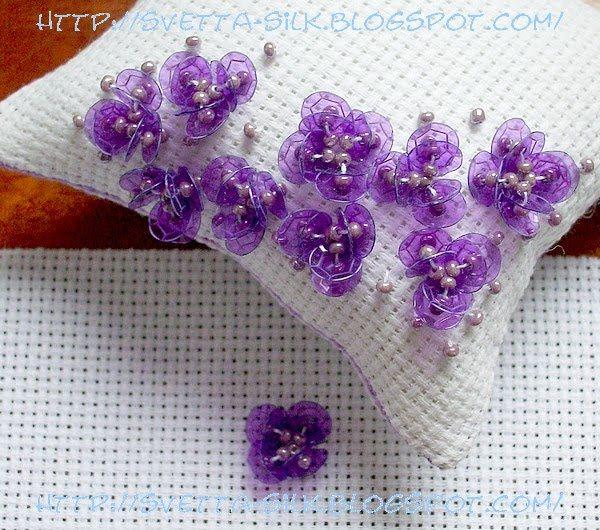 Паетки вышивка схемы