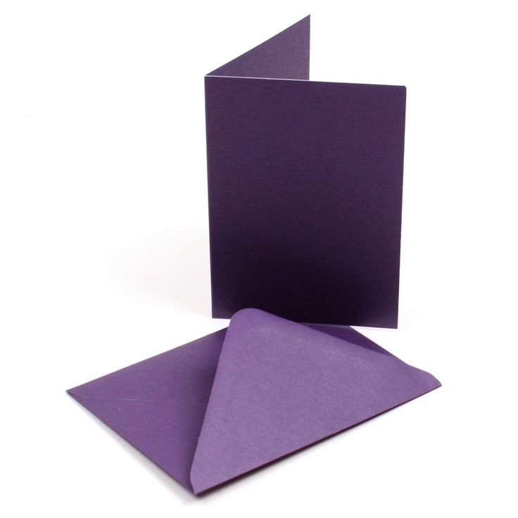 Purple Christmas Cards and Envelopes C6 30 Pack