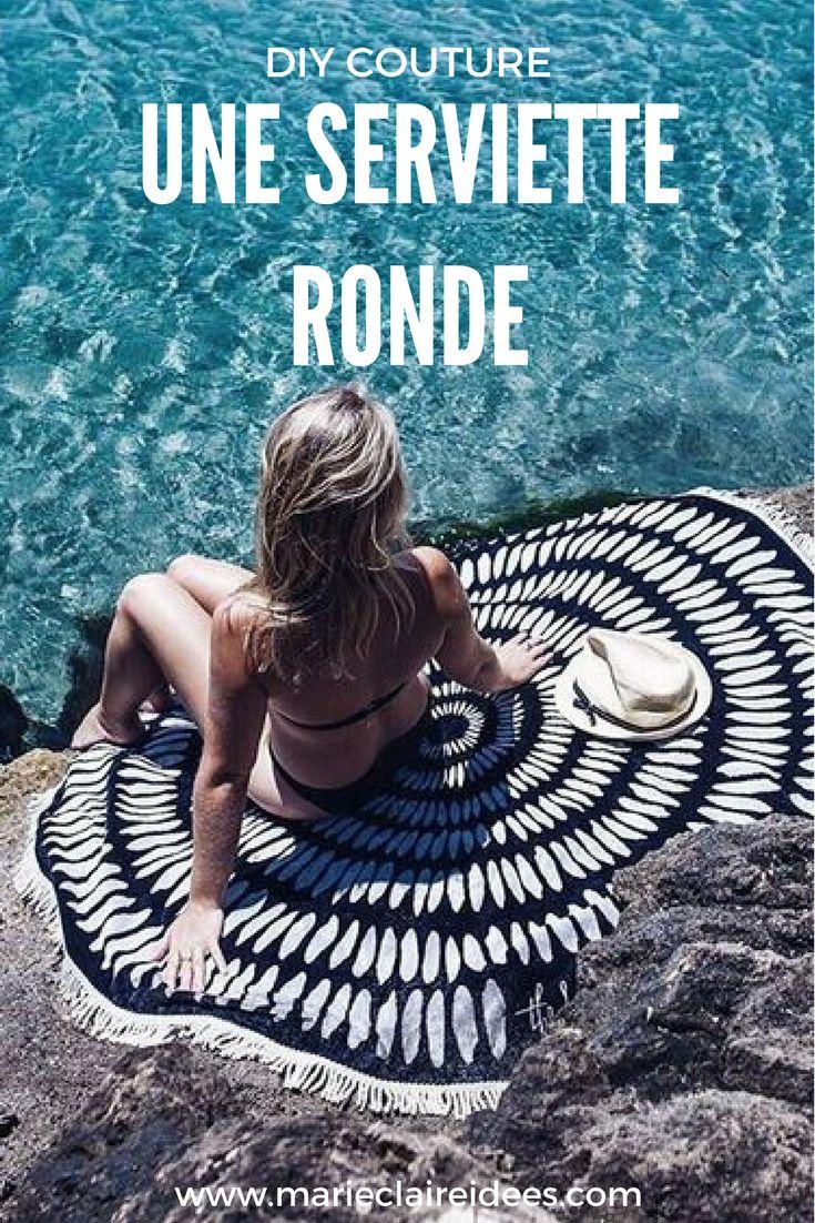 Cet été, on se coud une serviette de plage ronde !
