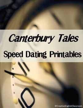 Canterbury Tales Speed Dating Printables -- A Fun Secondary ELA Literature Activity!