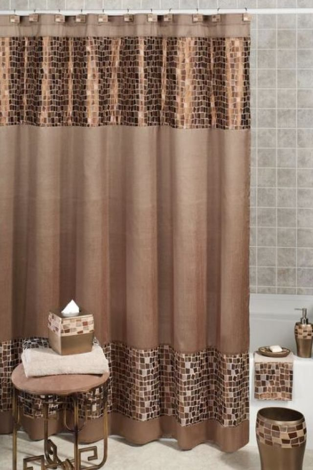 Exceptional Bathroom Accessory Sets With Shower Curtain 7 B Elegant Shower Curtains Brown Shower Curtain Fancy Shower Curtains
