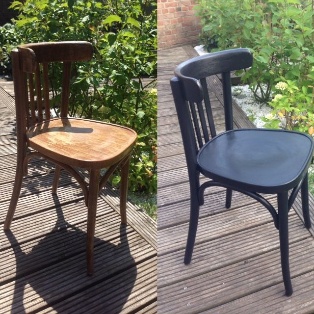 Mes Petites Chaises Noires Relooking Chaises Bistrot Chaise