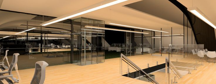 Night time interior render of my office #design