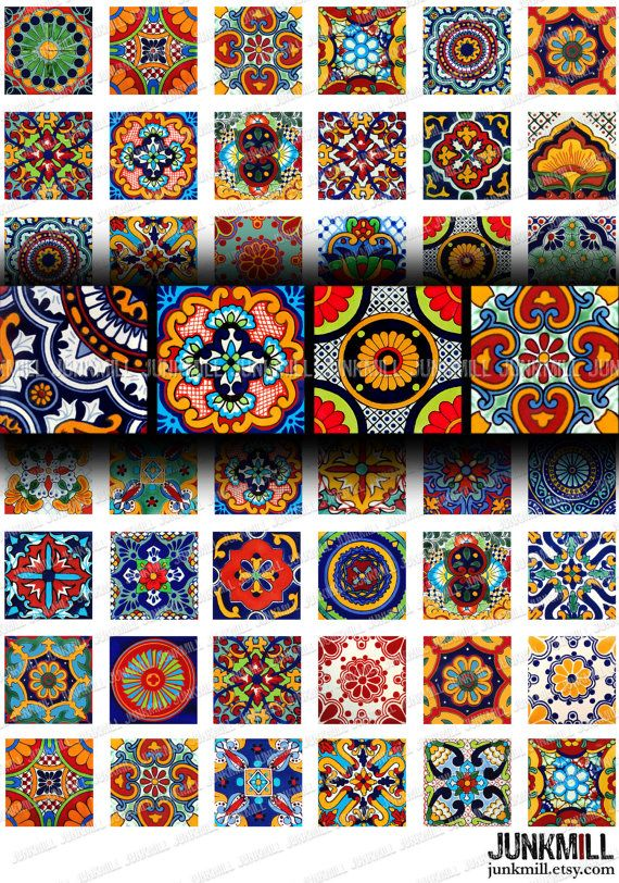 TALAVERA Digital Printable Collage Sheet Colorful by JUNKMILL, $3.95