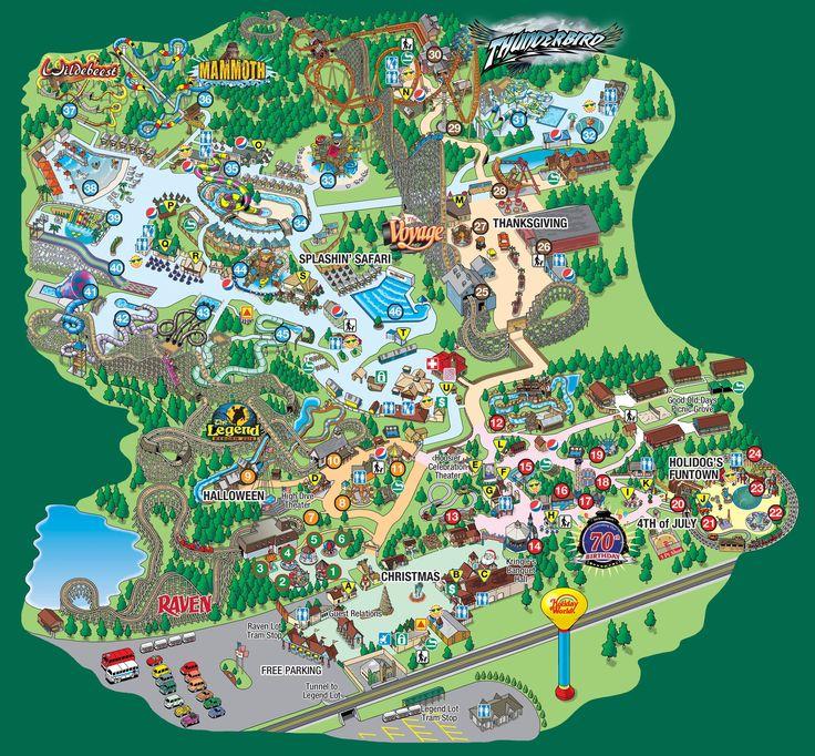 Splashin U0026 39  Safari Park Map
