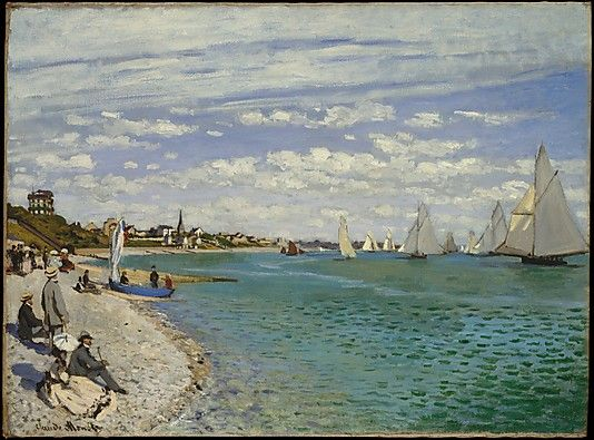 Claude Monet (French, 1840–1926). Regatta at Sainte-Adresse, 1867. The Metropolitan Museum of Art, New York. Bequest of William Church Osborn, 1951 (51.30.4)